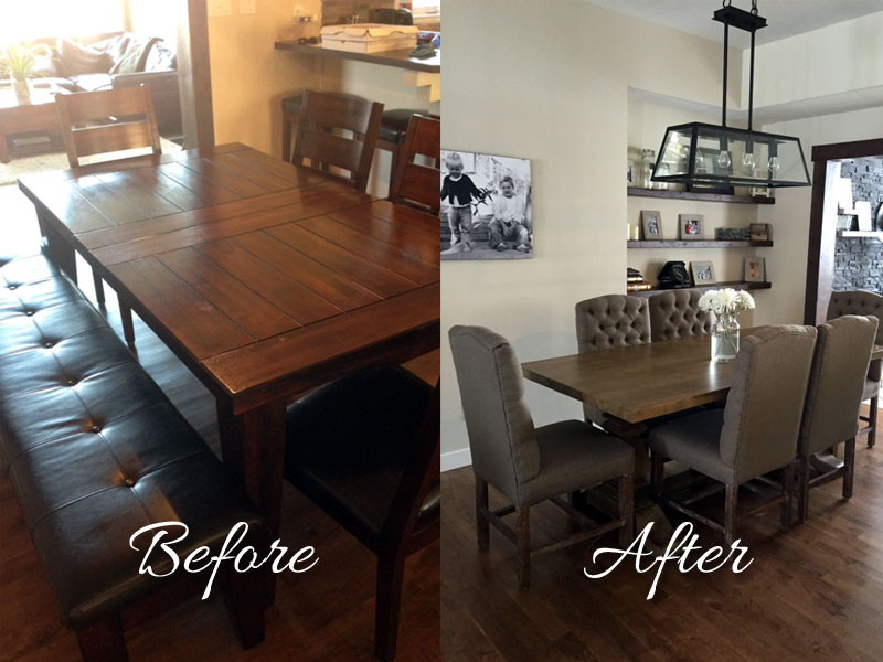 Before/After of Dining Set - The Home Workshop – Home Furniture – Office Furniture – Design Consulting