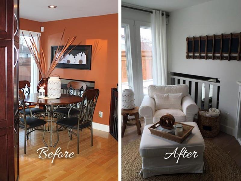 Before/After of Casual Chic - The Home Workshop – Home Furniture – Office Furniture – Design Consulting