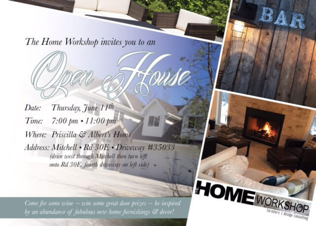 Open House – Thur June 11! - The Home Workshop – Home Furniture – Office Furniture – Design Consulting