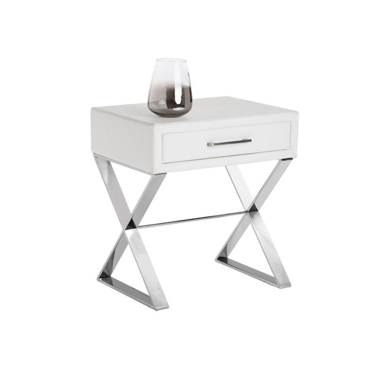 Casa End Table White - The Home Workshop - Home Furniture - Office Furniture
