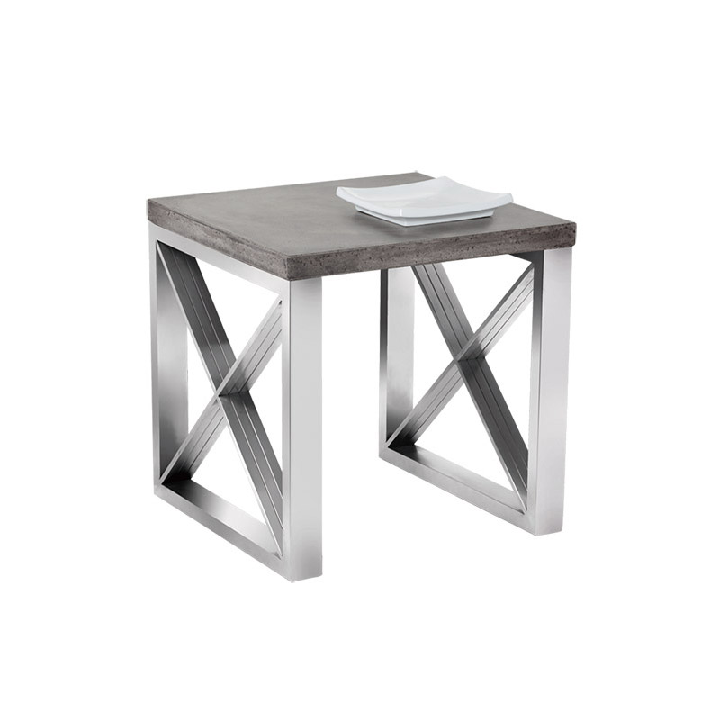 Catalan End Table Grey - The Home Workshop - Home Furniture - Office Furniture