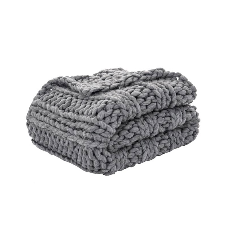Chunky Throw Charcoal - The Home Workshop - Home Furniture - Office Furniture