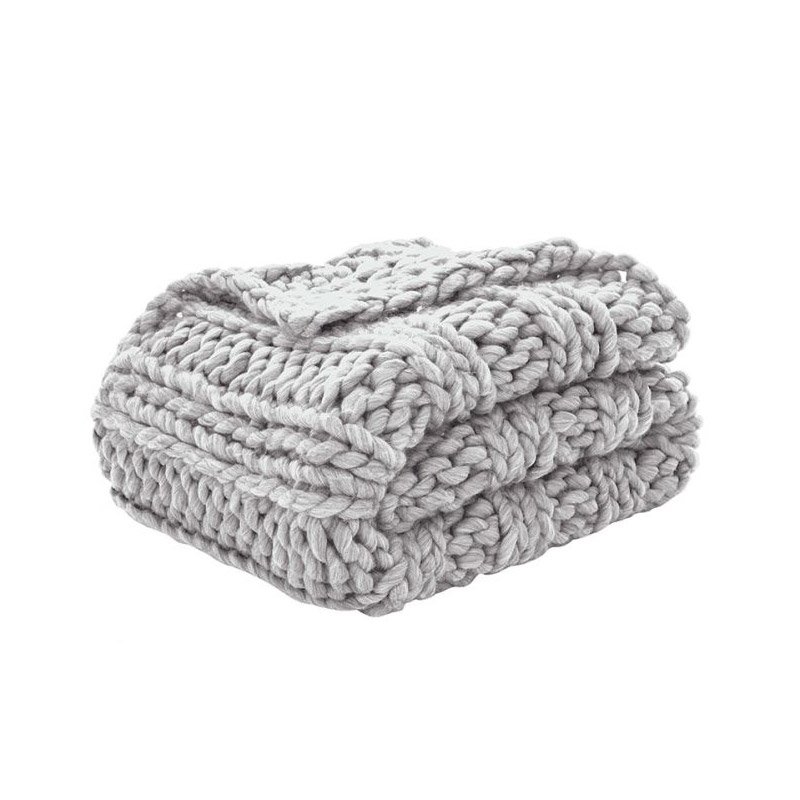 Chunky Throw Soft Grey - The Home Workshop - Home Furniture - Office Furniture