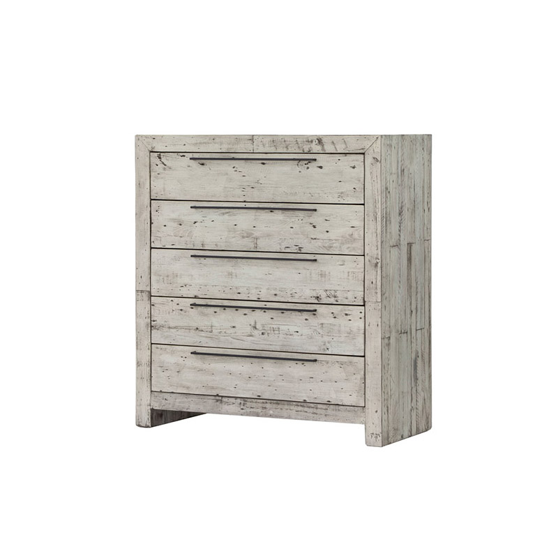 Malibu 5 Drw Chest Sandstone White - The Home Workshop - Home Furniture - Office Furniture