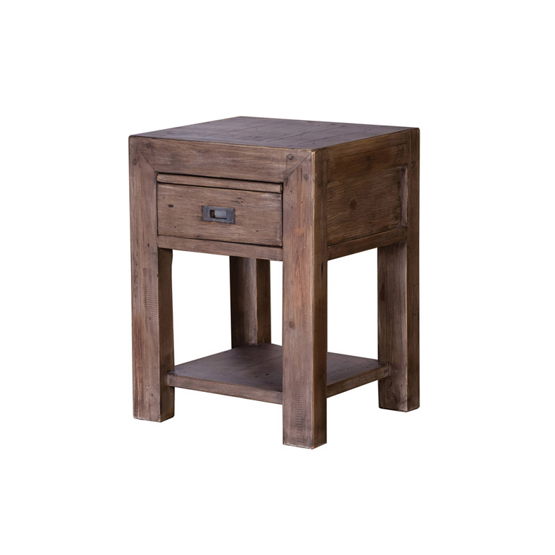 Post & Rail Bedside Cabinet Sundried - The Home Workshop - Home Furniture - Office Furniture