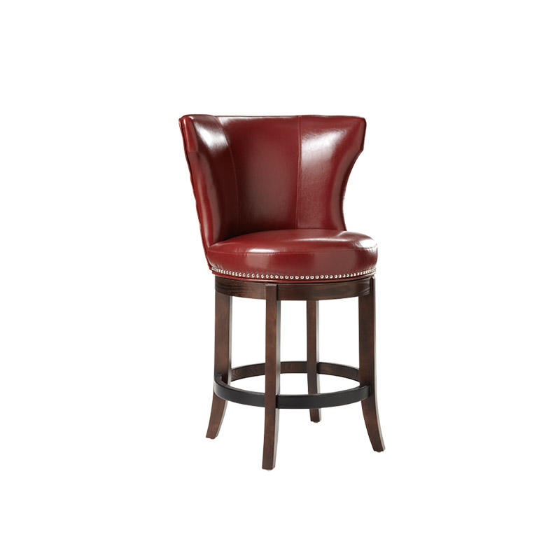 Tavern Swivel Counter Stool Oxblood - The Home Workshop - Home Furniture - Office Furniture