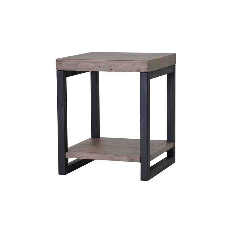 Wooden forge end table the home workshop for Table th collapse